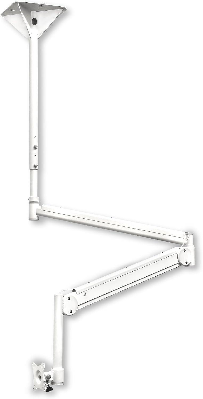 Msa01 Praxis Deckenschwenkarm Für Vesa Monitore Bis 10 Kg Weiß Küche Haushalt