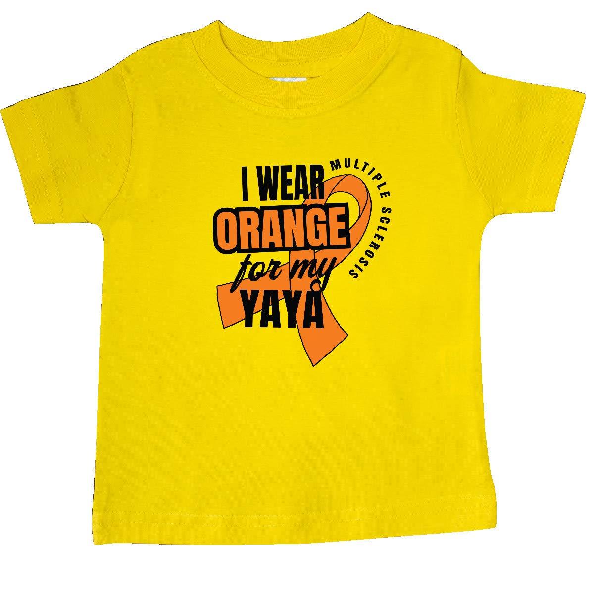 inktastic I Wear Orange for My Yaya Multiple Sclerosis Awareness Baby T-Shirt