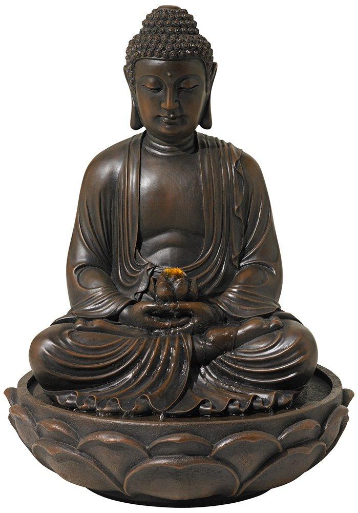 Meditating Bronze Seated 27 1/2'' High Buddha Fountain