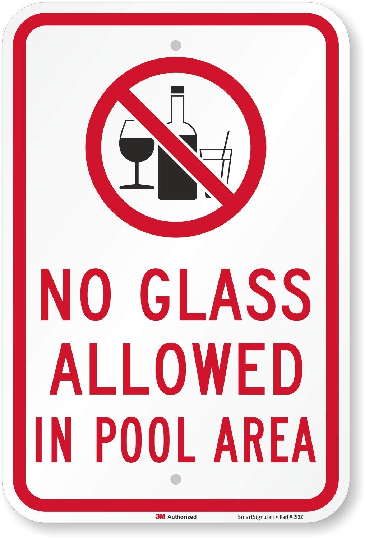 No vidrio permitido en zona de la piscina (con gráfica ...