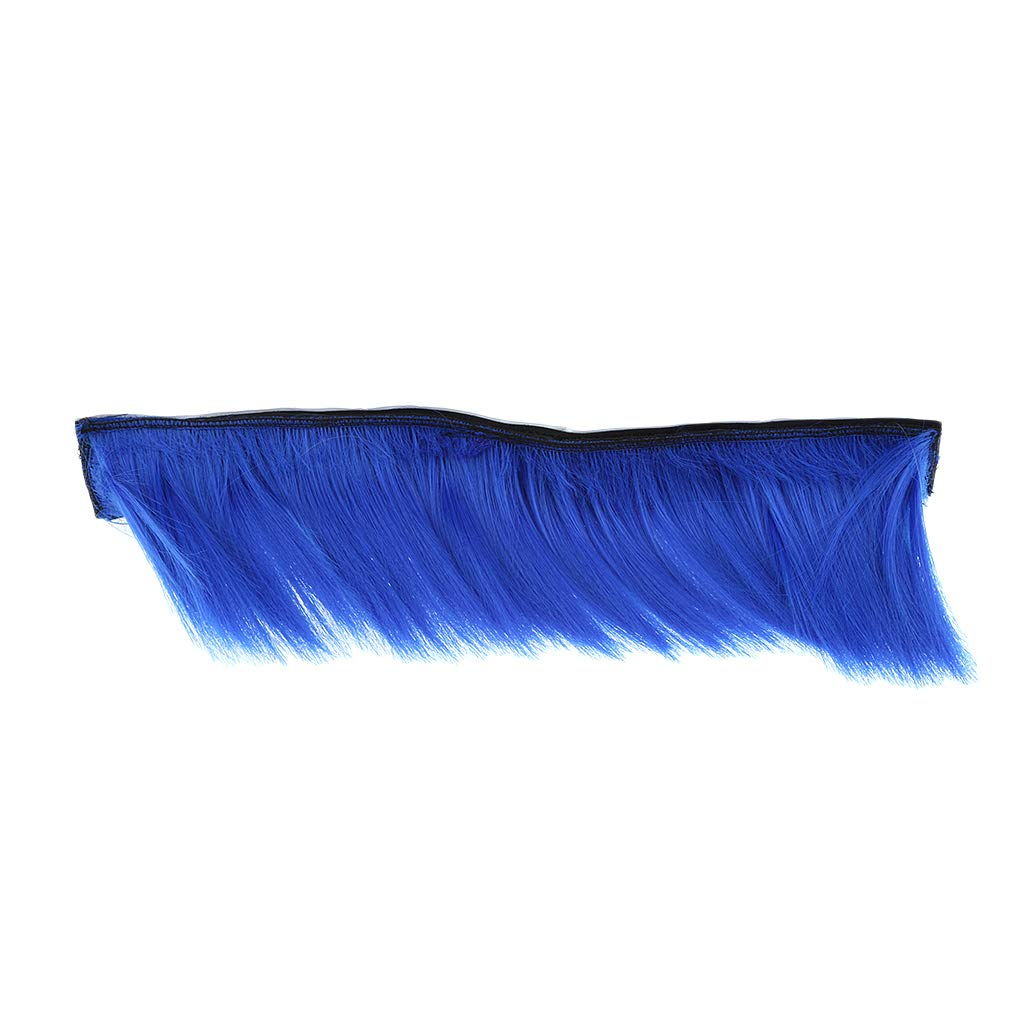 Blue KESOTO Motorcycle Adhesive Helmet Mohawk Hair Patches Skinhead Costumes Wig Fits on Almost Any Helmet type