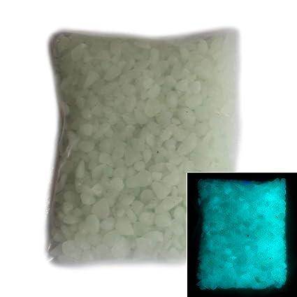 OUNONA 200/Pieces Bright Pebble Fluorescent CZ Stones For Aquarium Ggarten Yard Decoration Blue