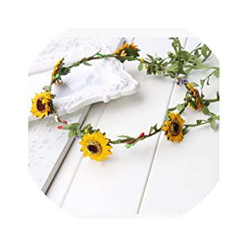Amazon.com: Corona para el pelo, diseño de flor de girasol ...