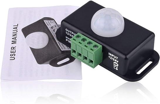 Pir Infrarot Körper Bewegungsmelder Bedienschalter Lampe 5-24V Home