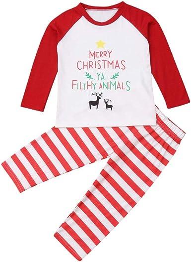 Pijamas Dos Piezas Familiares de Navidad, Conjuntos Navideños de Algodón para Mujeres Hombres Niño Bebé, Ropa para Dormir Verano Otoño Invierno Sudadera Chándal Suéter de Navidad: Amazon.es: Ropa y accesorios