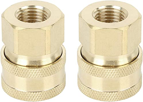 X AUTOHAUX 2pcs Car Quick Connect M14 Pressure Washer Adapter 1//4 Female Thread Socket