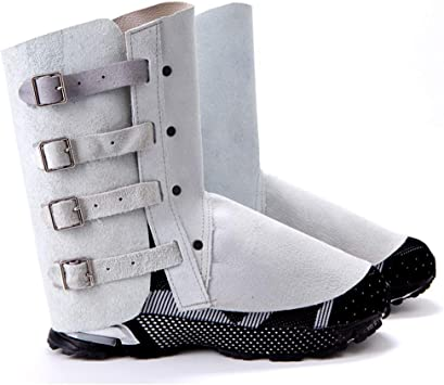 LAIABOR Leather Foot Protector Flame Retardant Abrasion//Flame Resistant//Durable Foot Safety Protection Welder Tools Welding Spats Safety Boot