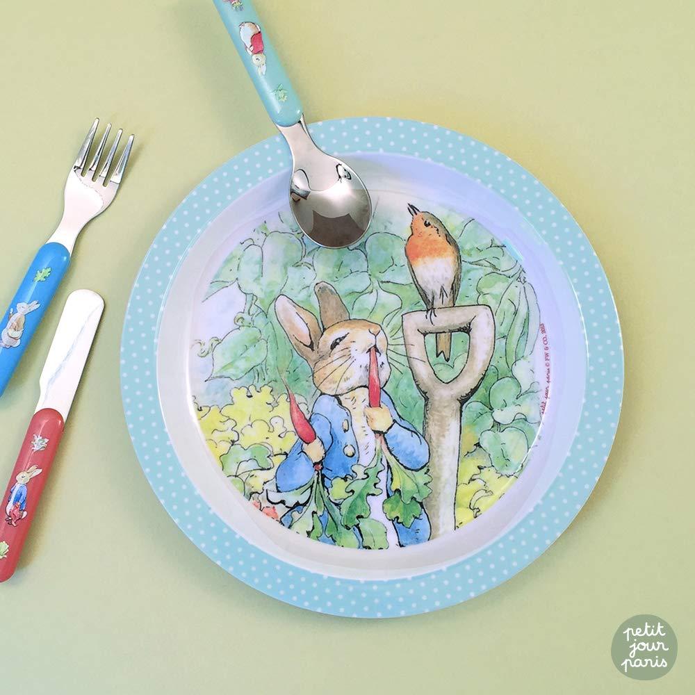 Petit Jour Paris to Increase Your Autonomie! Melamin Dishes Set Peter Rabbit