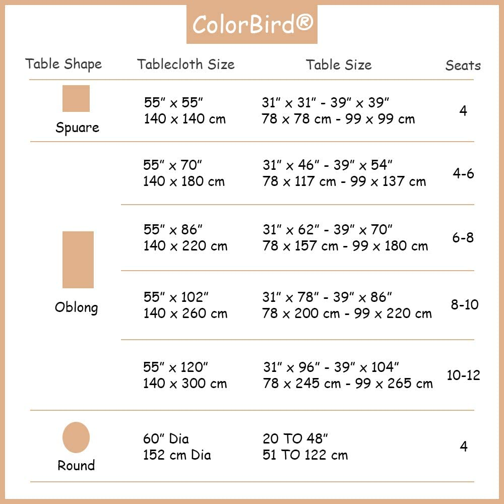 ColorBird Stitching Tassel Tablecloth Heavy Weight Cotton Linen Fabric Dust-Proof Table Cover for Kitchen Dinning Tabletop Decoration (Rectangle/Oblong, 55 x 70 Inch, Linen): Kitchen & Dining
