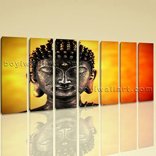 Amazon.com: Extra Large Buddha Face Canvas Art Home Decor Living ...
