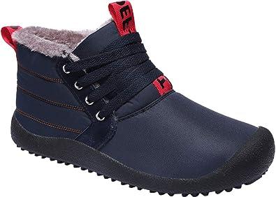 Gaatpot Chaudes Bottes de Neige Homme Femme Hiver Imperméable Fourrées Boots  Mode Courts Bottes avec Doublure 2441ed25f433