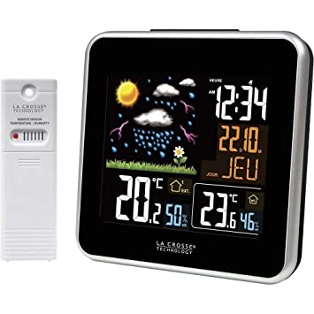 a83ecb9c5c5e03 Station météo avec écran LCD couleur La Crosse Technology WS6821-A ...