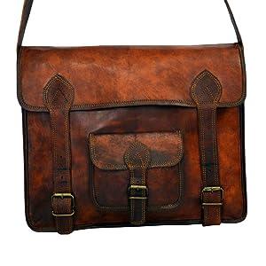 Leather Messenger Vintage Leather Laptop Bag or Briefcase for Men 11