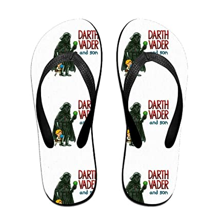 a4bcf8abcb1f56 Amazon.com  DARTH VADER AND SON Flip Flops Sandals Beach Shower ...