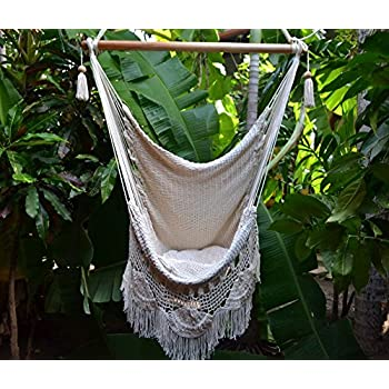 Merveilleux Handmade Hanging Rope Hammock Chair   All Natural Indoor Or Outdoor Porch  Swing Patio Swing Chair