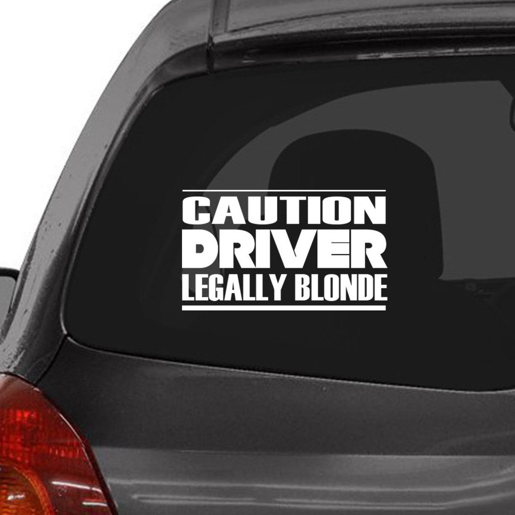 Amazon com custom brother caution driver legally blonde car laptop wall sticker automotive