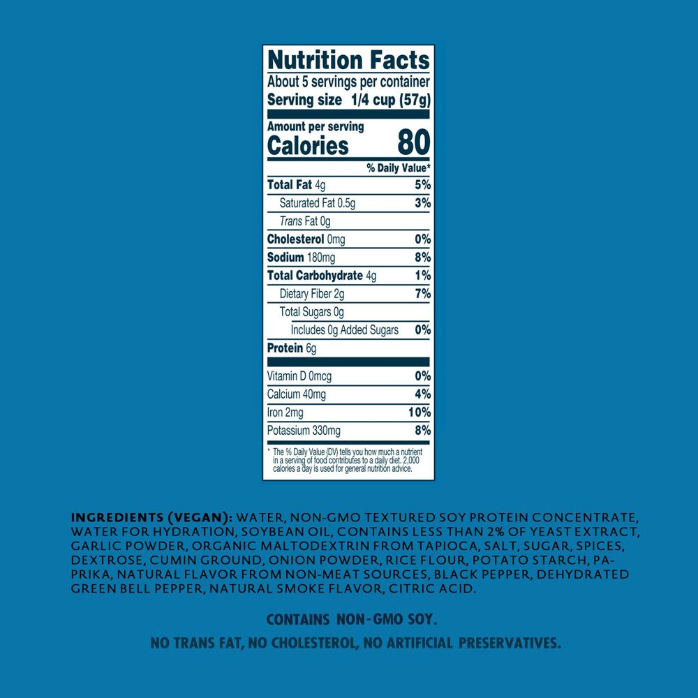 Loma Linda Blue - Plant-Based Meal Solution - Taco Filling (10 oz.) (Pack of 6) - Non-GMO, Gluten Free by Loma Linda (Image #2)