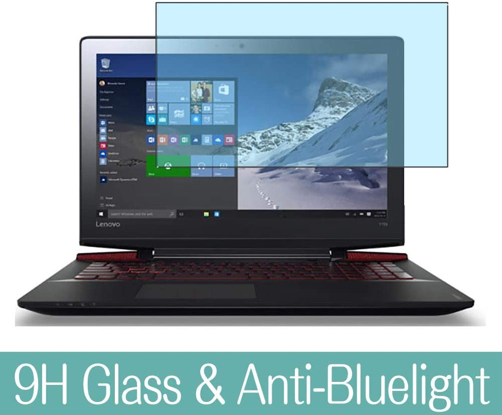 """Synvy Anti Blue Light Tempered Glass Screen Protector for Lenovo ideapad Y700 15.6"""" 2015 Visible Area 9H Protective Screen Film Protectors"""