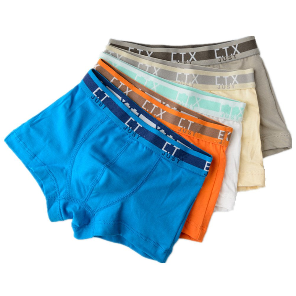 So Aromatherapy Boys Pack of 5 Seamless Boxer Briefs Thick Cartoon