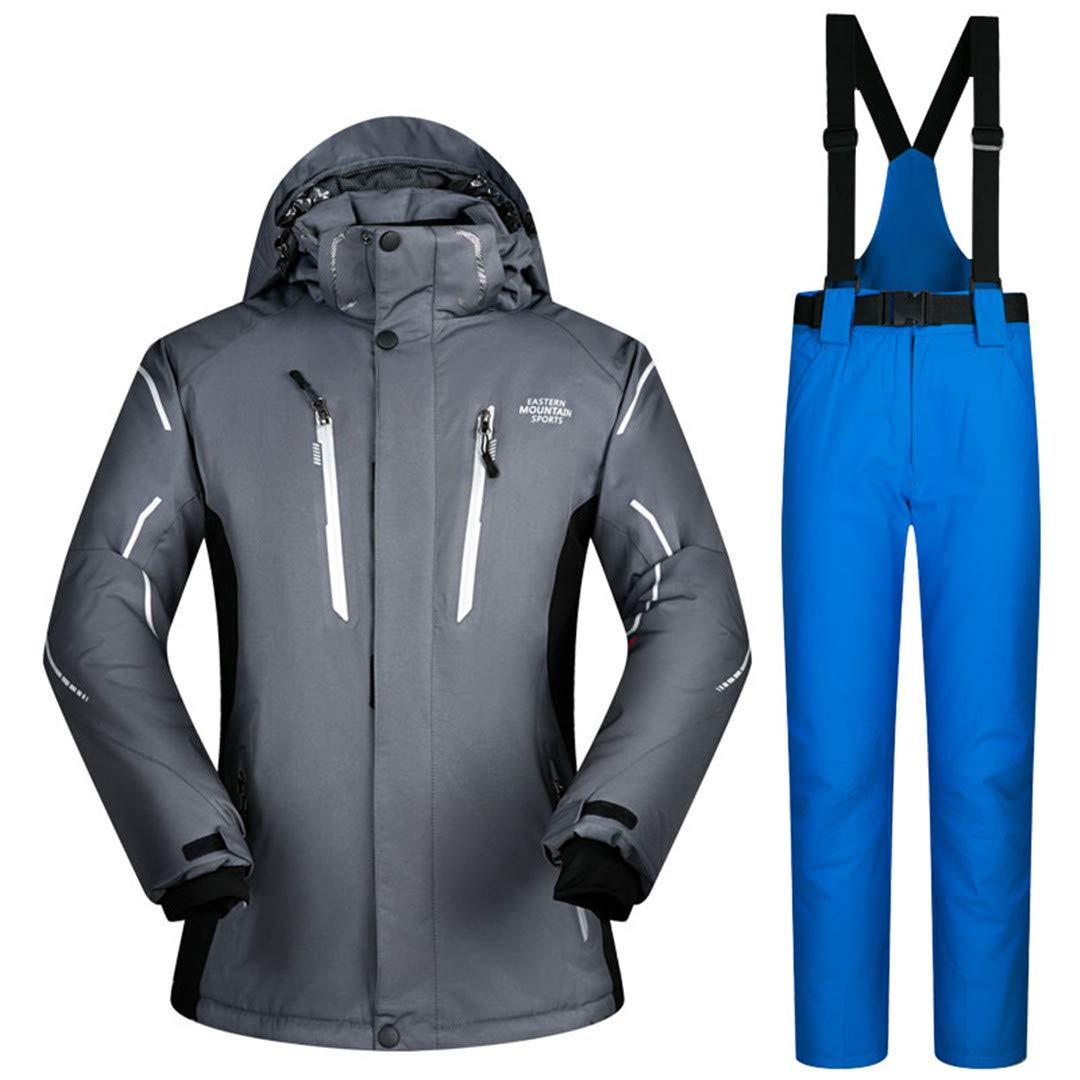 Männer Skianzug Winter-wasserdicht Winddicht verdicken Warmer Schnee Kleidung Ski Sets Jacke