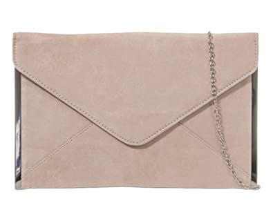 where can i buy united states cheap price Beige Envelope Clutch Bag, Nude Faux Suede Evening Bag with Silver Tone  Trim, Ladies Light Brown Shoulder Bag, Prom Wedding Handbag