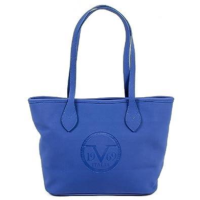 c6268cc939e1 Versace 19.69 Abbigliamento Sportivo Srl Milano Italia Womens Handbag  V1969001 SAX BLUE