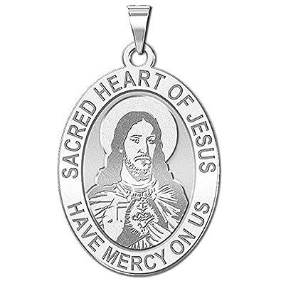 amazon picturesongold sacred heart of jesus religious medal 2 X 10 Size picturesongold sacred heart of jesus religious medal 1 2 x 2