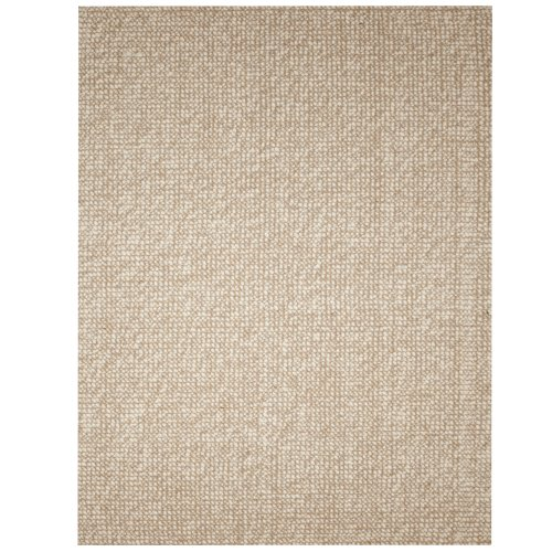 Anji Mountain AMB0308-0058 Zatar Ribbed Loop Pile Wool and Jute Area Rug, Natural, 5 x 8-Feet