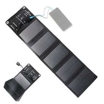 ZHITING Cargador de panel solar 5V10W Puertos USB plegables impermeables al aire libre Cargador solar, para iPhone 8 / X / 7 / 6s, iPad Pro/Air 2 / ...
