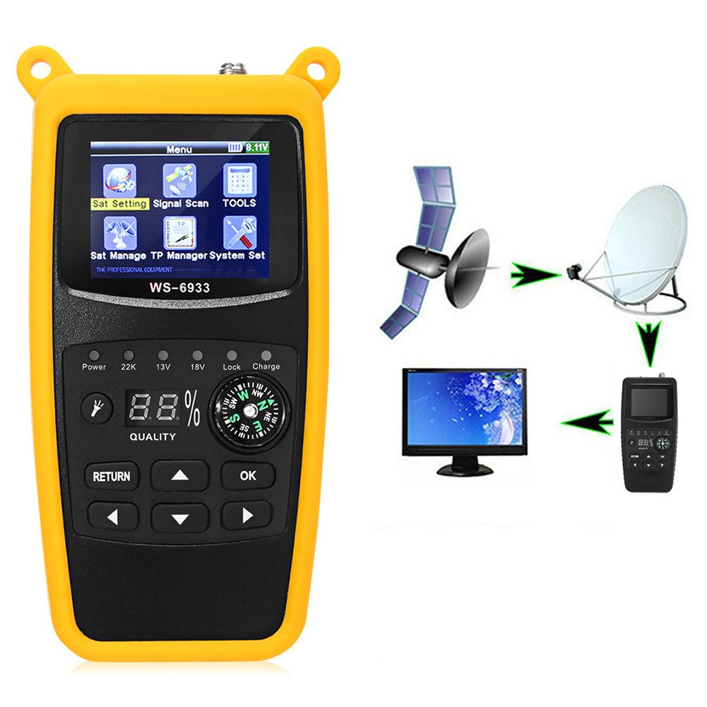 SISHUINIANHUA Digital Satellite Signal Finder Meter with EU Plug for Measurment Tool by SISHUINIANHUA