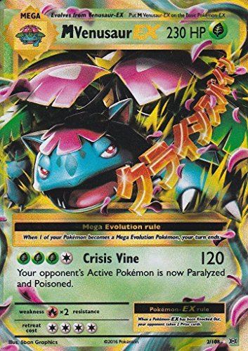 1x-m-mega-venusaur-ex-2-108-holo-foil-rare-xy-evolutions-nm-pokemon