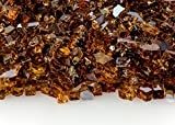 1/4 Inch Copper Reflective Fire Glass 20 Pounds (Two 10 Pound Bags) For Sale