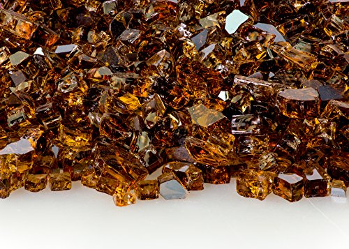 1/4 Inch Copper Reflective Fire Glass 20 Pounds (Two 10 Pound Bags)