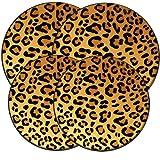 Range Kleen 5070 Set of Four Round Burner Kovers Round in a Wild Leopard Pattern, 4-Pack