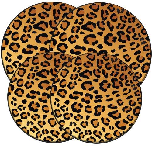 Range Kleen 5070 Wild Leopard Design Round Burner Kovers Set of 4