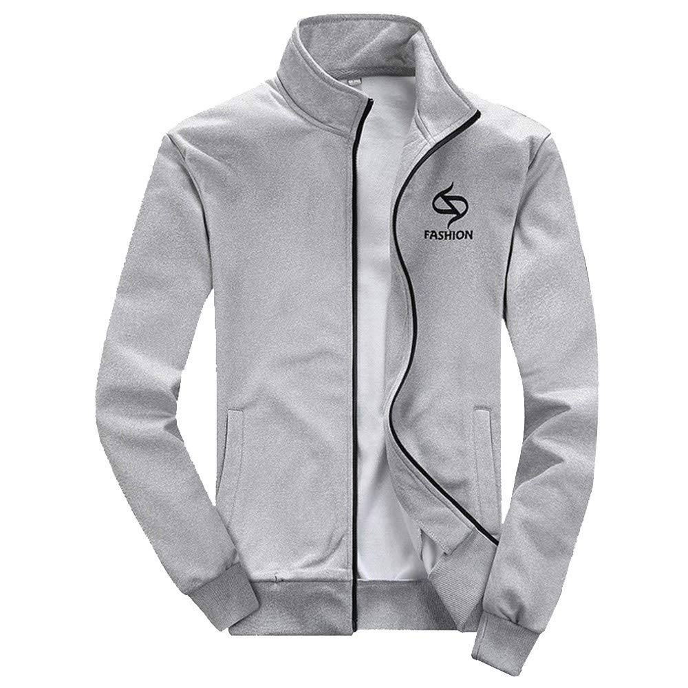 0b57a7c1 BOOMJIU Men's Tracksuit Athletic Sports Casual Full Zip Sweatsuit at Amazon  Men's Clothing store: