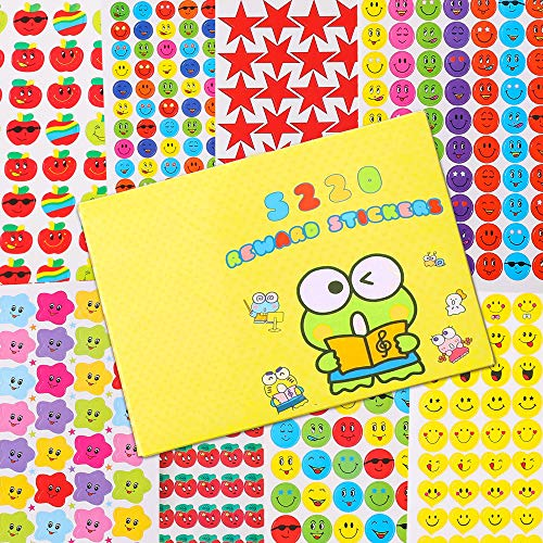 Reward Stickers for Kids, 8 Pack of 10 Sheets, Total 5220 Reward Stickers, Incentive Stickers for Kids Various Design Styles Including Smiley Face Stickers & Star Stickers Supplies Teachers