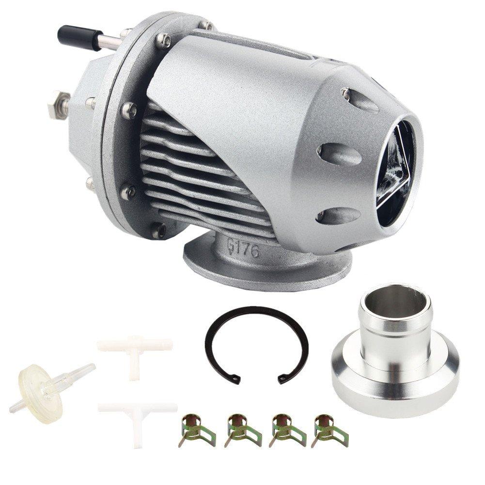 Dewhel Universal Adjustable Billet Aluminum Turbo SQV SSQV blow Off Valves BOV (Silver)