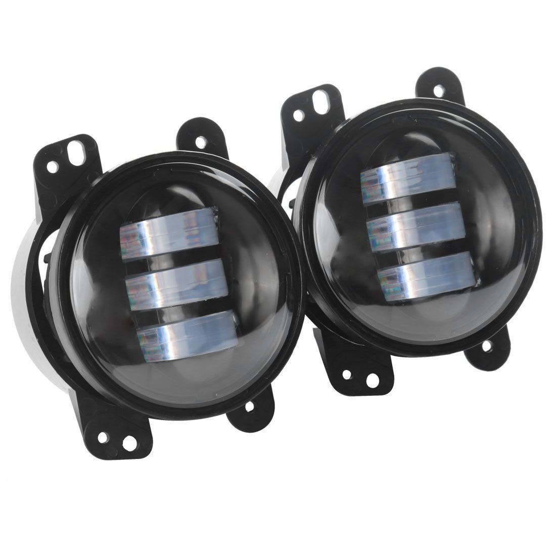 Amazoncom 4 Led Fog Lights for Jeep Wrangler JK Led Fog Lamps