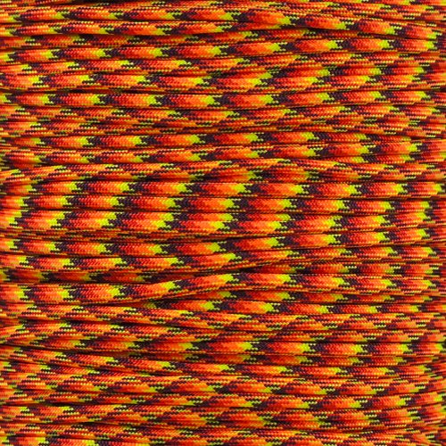 PARACORD PLANET 550 Cord Type III 7 Strand Paracord 1000 Foot Spool - Fireball