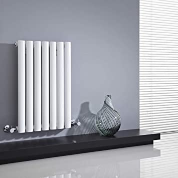 Hudson Reed   Radiateur Chauffage Central Horizontal Design   Acier Blanc    64 X 42cm