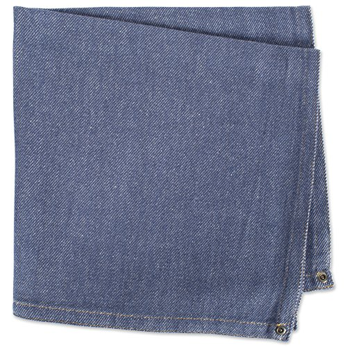 DII 100% Cotton Cloth Napkins, Oversized 20x20'' Dinner Napkins, For Basic Everyday Use, Banquets, Weddings, Events, or Family Gatherings - Set of 6, Denim by DII (Image #3)'
