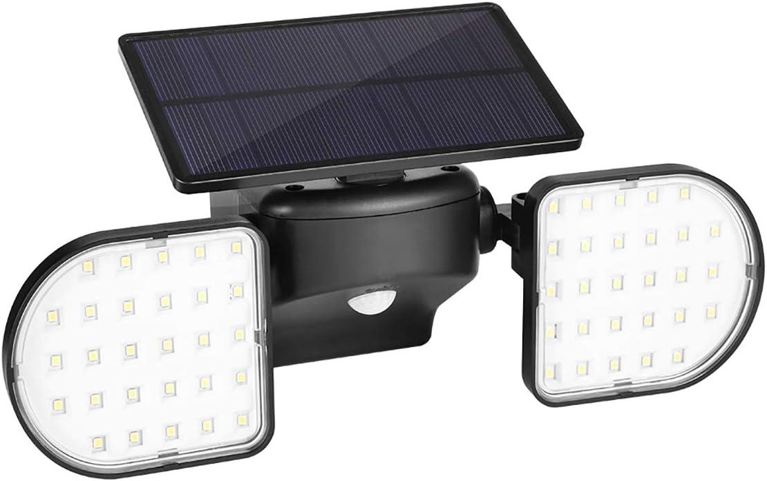 Zeonetak Solar Lights Outdoor Motion Sensor, LED Security Lights with Dual Head,360 Rotatable 56PCS LED Wireless IP65 Waterproof for Outdoor Yard Garden Garage Door Stairway Gate