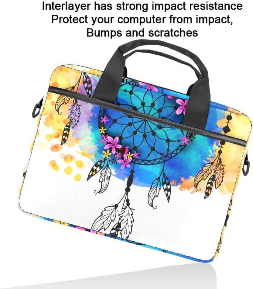 TIZORAX Sacoche pour ordinateur portable Boho Dreamcatcher avec poign/ée 15-15.4 Sac /à bandouli/ère