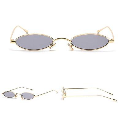 d9053c5d66 COOCOl WHO CUTIE 2018 Small Slim Oval Sunglasses Women Brand Designer Retro  Pink Red Yellow Tint