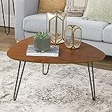 WE Furniture 32'' Hairpin Leg Wood Coffee Table - Walnut