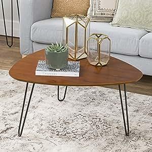 Amazon Com We Furniture 32 Hairpin Leg Wood Coffee Table Walnut