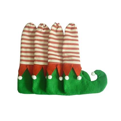 Kicode Silla de Navidad 4pcs Pata de la Mesa del pie Calcetines Cubre Botas Prevenir Party