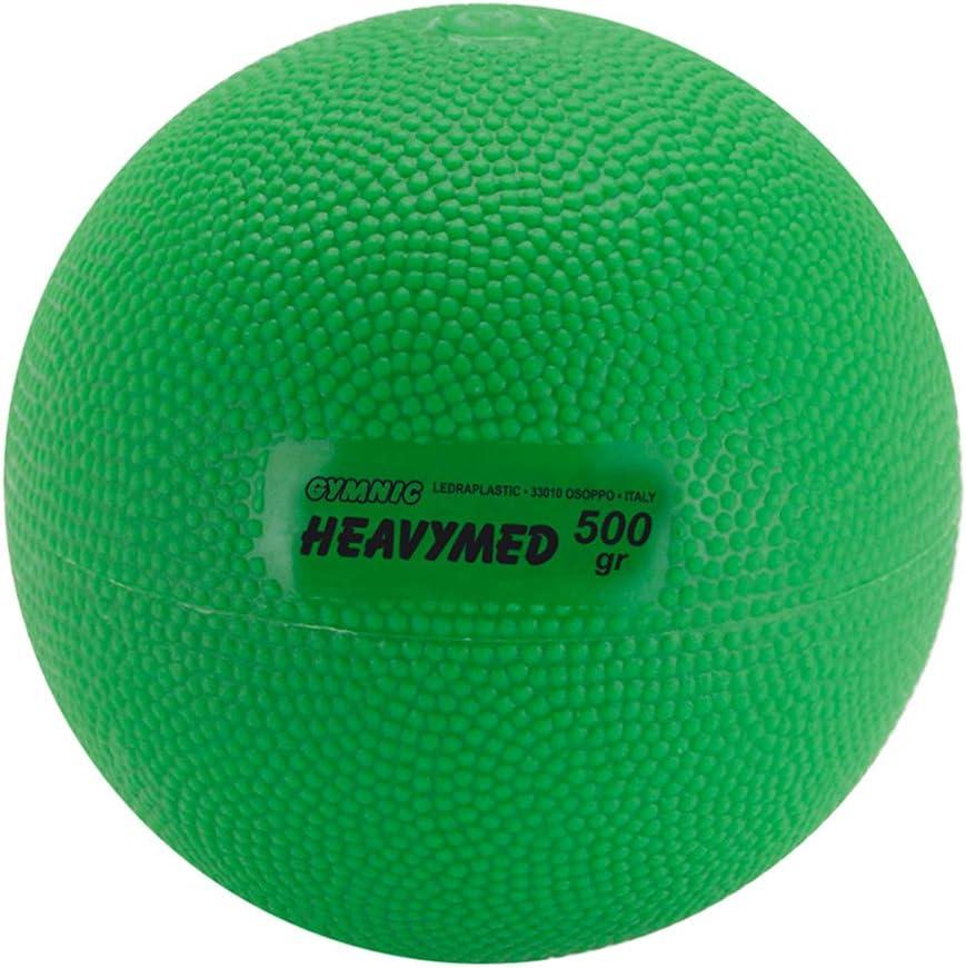 Gymnic Heavymed 500 Medicine Ball, 10cm 500g 1.1 lb, Green