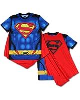 Bioworld Superman Men's Sublimated T-Shirt With Cape